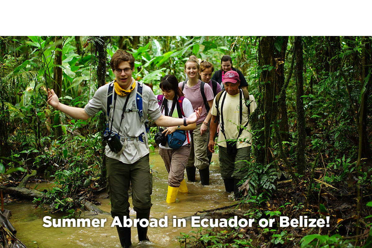Ceiba students study abroad in Ecuador's Amazon