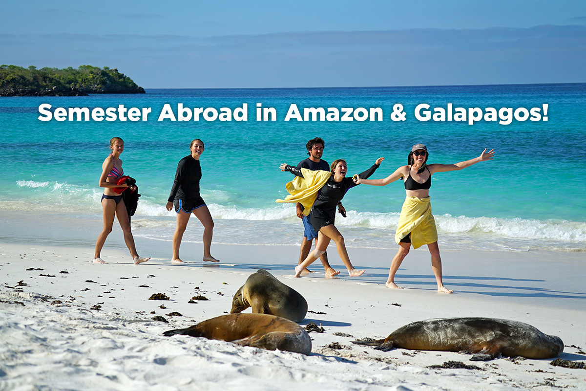 Tropical Conservation Semester students in Galapagos Islands